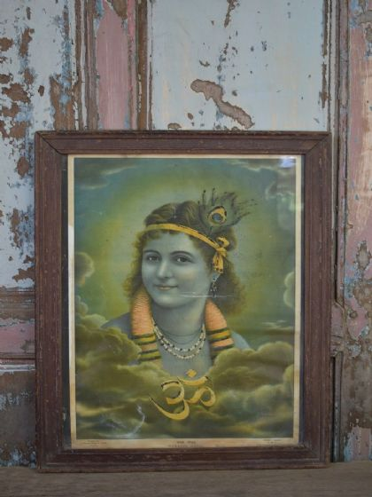 1960's Hindu Print of the God of Love, Krishna <b>SOLD<b>